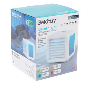 Beldray® EH3139V2 Ice Cube Plus Personal Table Top Air Cooler, 600ml, 7 W, White Thumbnail 10