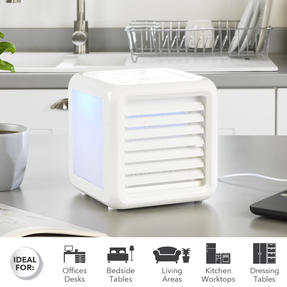 Beldray® EH3139V2 Ice Cube Plus Personal Table Top Air Cooler, 600ml, 7 W, White Thumbnail 2
