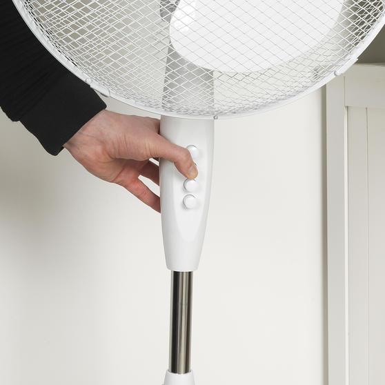 Beldray® 16 Inch Pedestal Fan | Oscillating Head | 3 Speeds | 125 cm | White Thumbnail 6