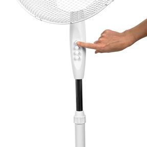 Beldray® EH3249 16 Inch Pedestal Fan | Oscillating Head | 3 Speeds | 125 cm | White Thumbnail 9