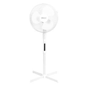 Prolectrix® EH3249PRO 16 Inch Pedestal Fan  | Tilting Head | 3 Speeds | 125 cm | White