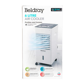 Beldray® EH3187 6 Litre Purifying Portable Air Cooler with 3 Fan Speeds and Ioniser Function, Water Level Indicator & Swing Function Thumbnail 9
