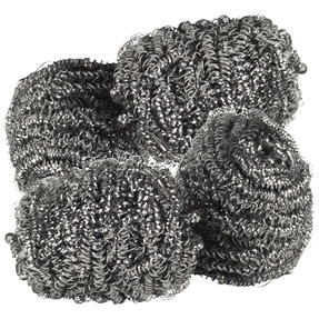 Essential Stainless Steel Scourers | Made with Recycled Stainless Steel | 4 Pack