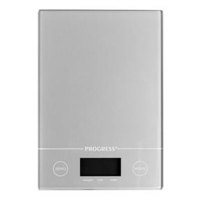 Progress® BW09160EU Metallics Digital Kitchen Tab Scale | Slimline Design | Weigh up to 5 KG of Ingredients | Battery Included | Silver Thumbnail 1