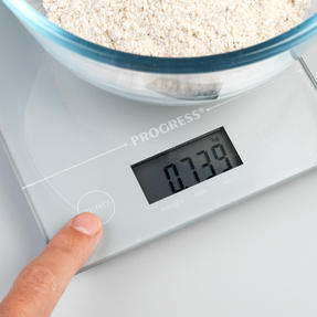 Progress® BW09160EU Metallics Digital Kitchen Tab Scale | Slimline Design | Weigh up to 5 KG of Ingredients | Battery Included | Silver Thumbnail 4