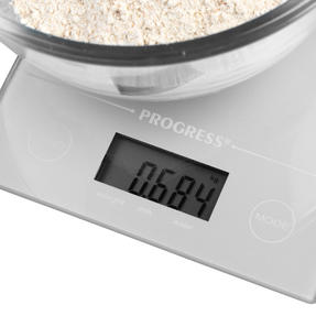 Progress® BW09160EU Metallics Digital Kitchen Tab Scale | Slimline Design | Weigh up to 5 KG of Ingredients | Battery Included | Silver Thumbnail 5
