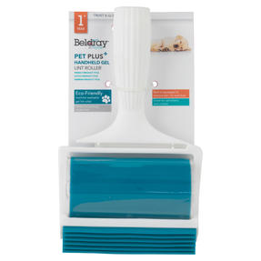 Beldray® LA072597EU Pet Plus+ Handheld TPR Gel Lint Roller with Squeegee | Washable | Perfect for Pet Hair on Clothes & Upholstery