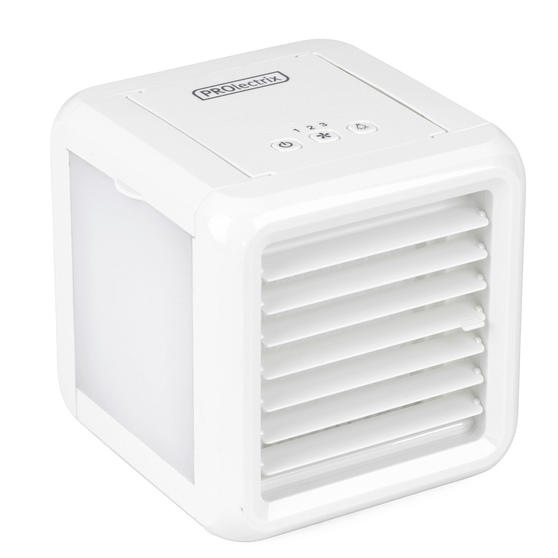Prolectrix® EH3139V2PRO Ice Cube Plus+ Personal Table Top Air Cooler | 3 Speed Settings | LED Lights | 5 W | 2 x 300 ml Water Tanks | White
