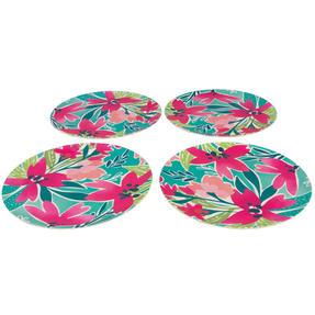Cambridge® COMBO-5554 Reusable Lightweight Dinner Plate, Bowl, Cup & Serving Jug Set, Evie Print | Dishwasher Safe | BPA Free | Alternative to Single Use Plastics Thumbnail 6