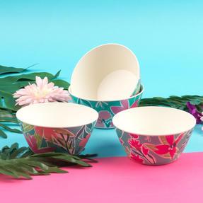 Cambridge® COMBO-5554 Reusable Lightweight Dinner Plate, Bowl, Cup & Serving Jug Set, Evie Print | Dishwasher Safe | BPA Free | Alternative to Single Use Plastics Thumbnail 9
