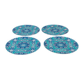Cambridge® COMBO-5558 Reusable Lightweight Dinner Plate and Bowl Set, St Tropez Print | Dishwasher Safe | BPA Free | Alternative to Single Use Plastics Thumbnail 6