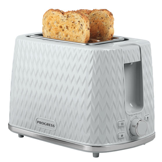 Progress® EK3860PGRY Chevron 2-Slice Toaster with 7 levels of browning control, 930 W