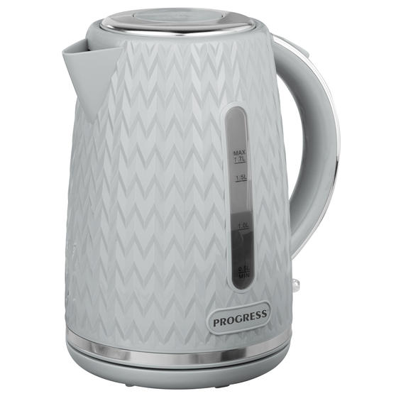 Progress® EK3864PGRY Chevron Kettle, 1.7 litre Capacity, Grey