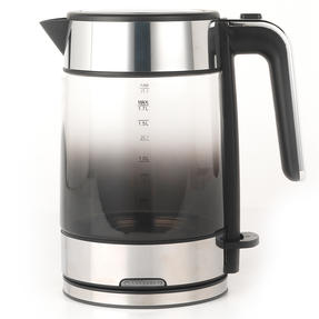 Progress® EK3891PBLK Ombre Glass Kettle, 1.7 litre Capacity, Black