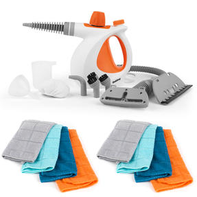Beldray® COMBO-6475 10-in-1 Handheld Steam Cleaner | Orange | 1000 W | with Eight Microfibre Cloths
