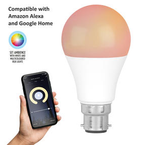 Intempo® EE5013BWHTSTKEU7 Smart Light Bulb with Bayonet Fitting | 8.5 W | App Control | White and RGB Light Modes | Compatible with Amazon Alexa and Google Home Assistant Thumbnail 2