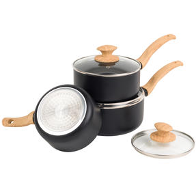 Progress® BW09025EU Scandi Smartstone Non Stick Saucepan Set with Glass Lids| 3-Piece |16/18/20 cm | Induction Suitable | Dishwasher Safe Thumbnail 2