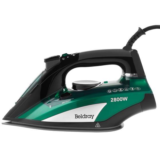 Beldray® BEL0931EM Rapid Glide Pro Steam Iron | 2800 W | 400 ml Water Tank | 2.5 Metre Cord | Emerald