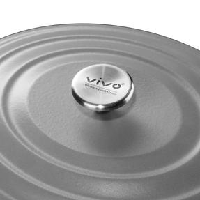 Vivo | Villeroy & Boch Group CW0464 Cast Iron Oval Casserole Dish | 29 cm | Self-Basting Lid | Suitable For Hobs & In Ovens | Grey Thumbnail 3