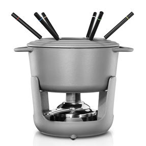 Vivo | Villeroy & Boch Group CW0623 Cast Iron Fondue Set for Cheese, Meat, Chocolate, Broth and More - 6 Fondue Forks Included Thumbnail 1