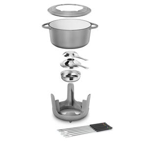 Vivo | Villeroy & Boch Group CW0623 Cast Iron Fondue Set for Cheese, Meat, Chocolate, Broth and More - 6 Fondue Forks Included Thumbnail 2