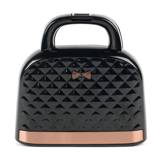 Salter® EK3677 Handbag Style Sandwich Toaster with 2 Slice Toastie Capacity | Non-Stick | Compact | 750 W | Rose Gold Edition