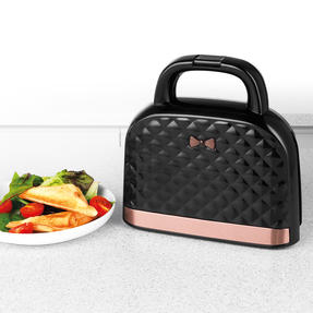 Salter® EK3677 Handbag Style Sandwich Toaster with 2 Slice Toastie Capacity | Non-Stick | Compact | 750 W | Rose Gold Edition Thumbnail 8