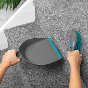 Beldray® LA069351EU Pet Plus+ Rubber Dustpan with Brush Set | Compact Design | Grey/Turquoise Thumbnail 6