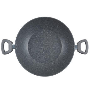 Salter® BW09338 Marblestone Non-Stick Family Pan   30 cm   Induction Suitable   Dishwasher Safe   Grey Thumbnail 2