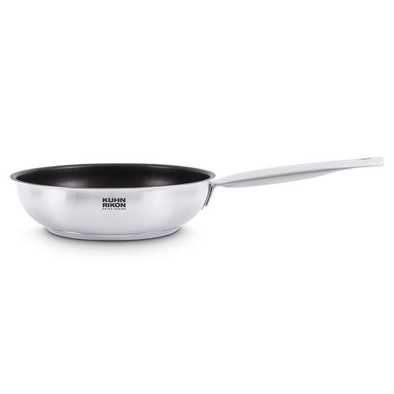 Kuhn Rikon 31380 Stainless Steel Non-Stick Frying Pan | 20 cm | Suitable for All Hob Types