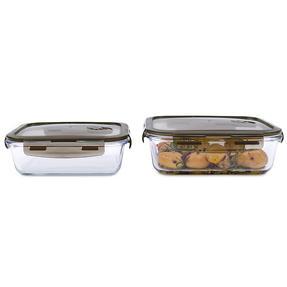 Kuhn Rikon VK7000 Rectangular Airtight Food Storage Box Set | 2 Piece | 1.4 & 1.5 L | Great For Marinating/Freezing/Batch Cooking Thumbnail 1