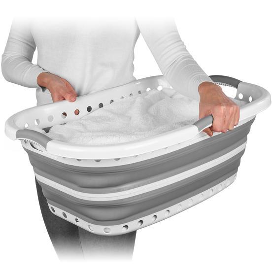 Beldray® LA072979GRYEU Collapsible Hip Hugger Laundry Basket  Thumbnail 1