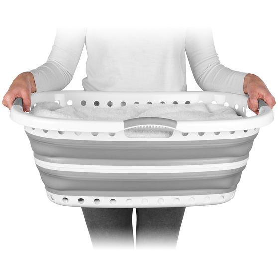 Beldray® LA072979GRYEU Collapsible Hip Hugger Laundry Basket  Thumbnail 2
