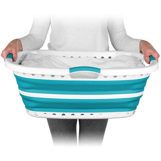 Beldray® LA072979TQEU Collapsible Hip Hugger Laundry Basket | Great for Carrying Thumbnail 3