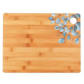 Cambridge® BW094531 Bamboo Chopping Board with Eucalyptus Decal Design | 32.7 x 25 cm | FSC Certified Thumbnail 1