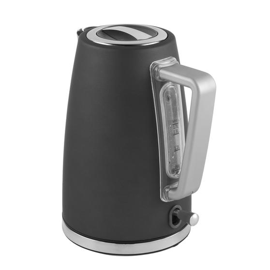 Salter® EK3931GRY Opulence Kettle | 1.7 Litre Capacity | 3000 W | Rapid Boil | Boil-Dry Protection | Auto Shut-Off | Soft-Touch Finish | Grey