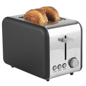Salter® EK3932GRY Opulence 2-Slice Toaster | Wide Slots | Built-in Cord Storage
