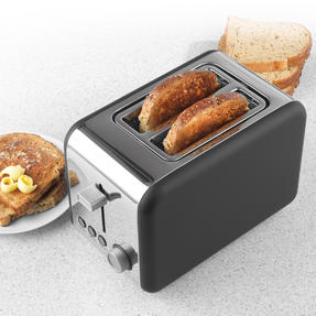 Salter® EK3932GRY Opulence 2-Slice Toaster | Wide Slots | Defrost, Reheat and Cancel Functions | Built-in Cord Storage | 850 W | Grey Thumbnail 2
