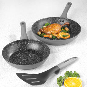 Salter® BW09411 Forged Aluminium 2-Piece Marble Non-Stick Fry Pan Set Thumbnail 5