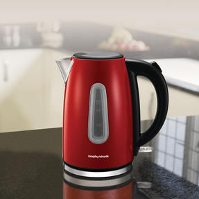 Morphy Richards 102774 Equip Jug Kettle   Rapid Boil   3000 W   1.7 L   Red   Thumbnail 3