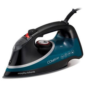 Morphy Richards 303132 Comfigrip Steam Iron with Ceramic Soleplate | 2800 W | 400 ml Water Tank | Black/Green