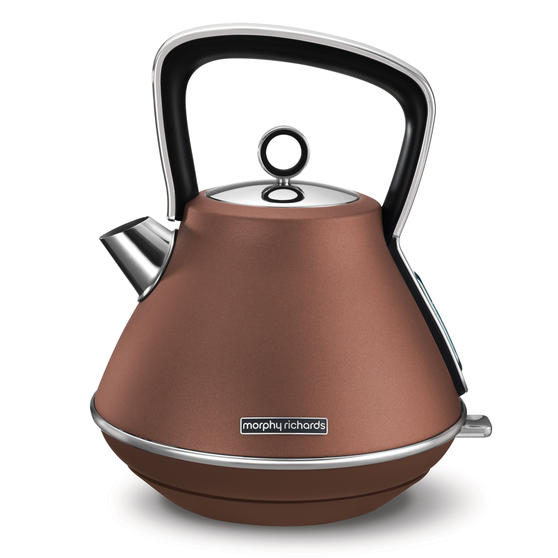 Morphy Richards 100101 Pyramid Kettle | Rapid Boil | 3000 W | 1.5 L | Bronze|