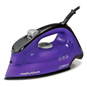 Morphy Richards 300253 Breeze Steam Iron with Ceramic Soleplate | 2600 W | 350 ml Water Tank | Purple