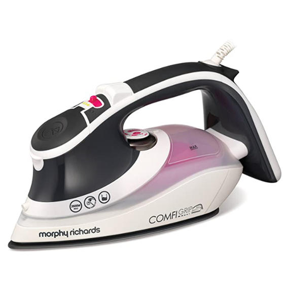 Morphy Richards 301020 Comfigrip Steam Iron with Ceramic Soleplate   2600 W   350 ml Water Tank   White