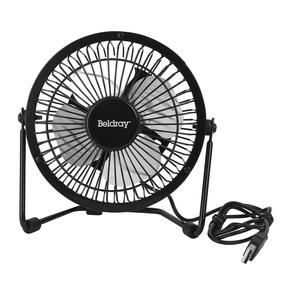 Beldray® EH2665 USB Mini Desktop Tilting Cooling Office Fan | 4 Inch | 5 V | Black | For PC, Laptop, Mac Book, Chromebook Thumbnail 2