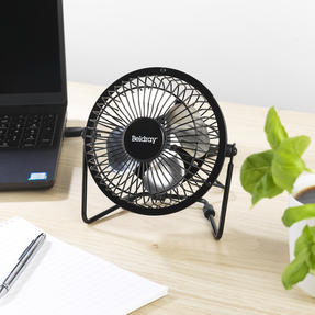 Beldray® EH2665 USB Mini Desktop Tilting Cooling Office Fan | 4 Inch | 5 V | Black | For PC, Laptop, Mac Book, Chromebook Thumbnail 3
