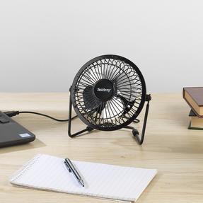 Beldray® EH2665 USB Mini Desktop Tilting Cooling Office Fan   4 Inch   5 V   Black   For PC, Laptop, Mac Book, Chromebook Thumbnail 4