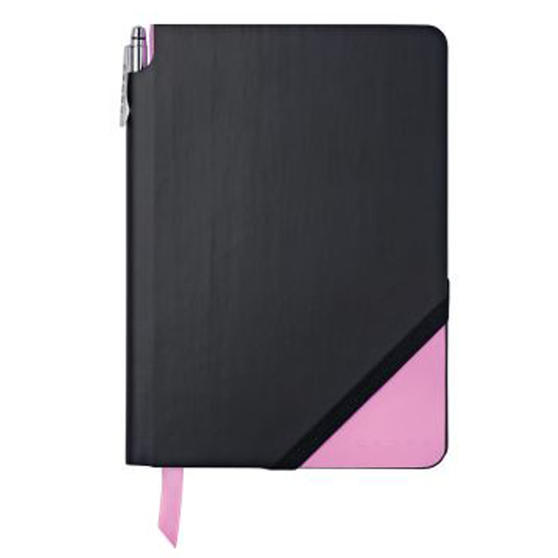 Cross AC273-4MG Medium A5 Grid Paper Jotzone Notepad | Black and Pink | Cross Pen Included