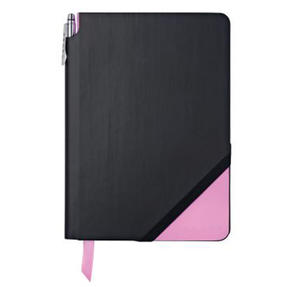 Cross AC273-4MG Medium A5 Grid Paper Jotzone Notepad | Black and Pink | Cross Pen Included Thumbnail 1