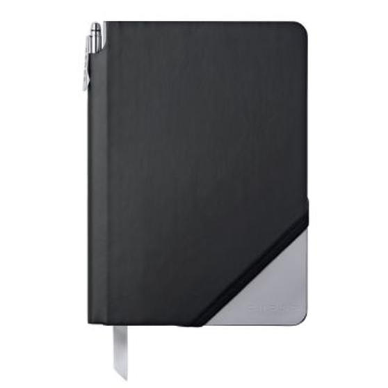 Cross AC273-5MB Medium A5 Blank Paper Jotzone Notepad | Black and Grey | Cross Pen Included